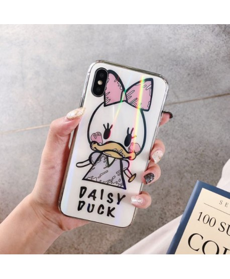 Couple iPhone XS Max Hologram Donald/Daisy Duck Case