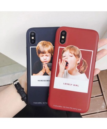 iPhone X Matching Couple Little Boy/Girl Case