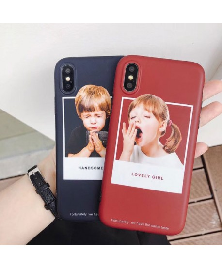 iPhone XS Matching Couple Little Boy/Girl Case