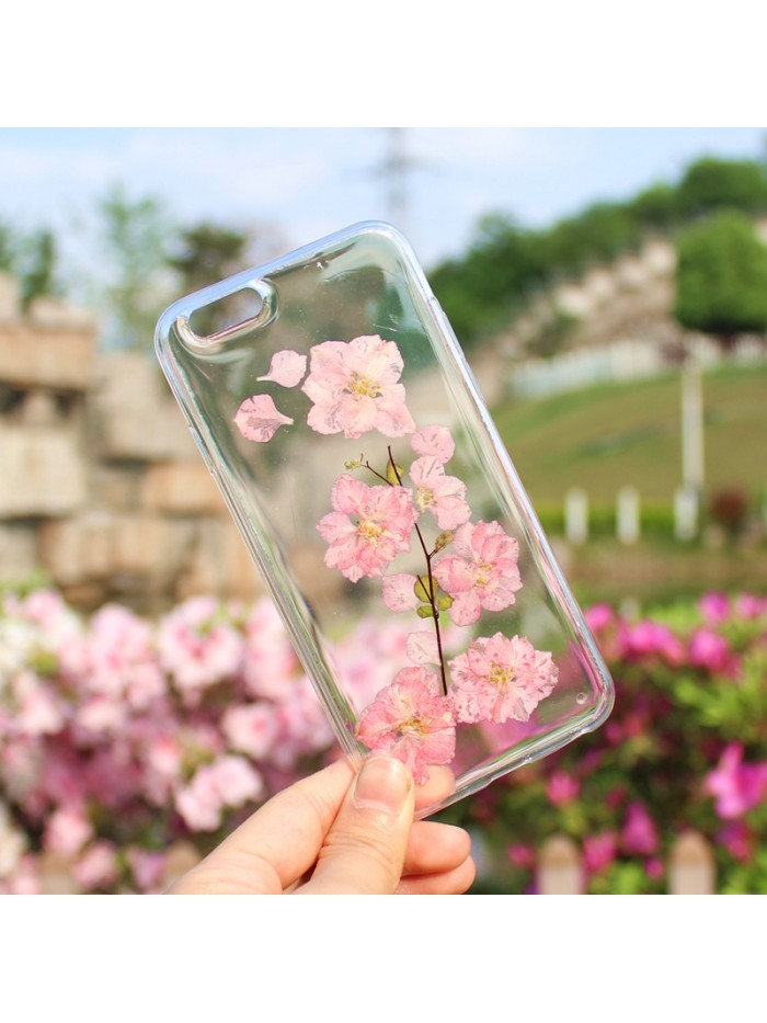 Dried Flower iPhone Case - Pink Cherry Blossoms
