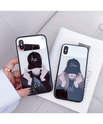 iPhone X Matching Couple He &She Protective Case