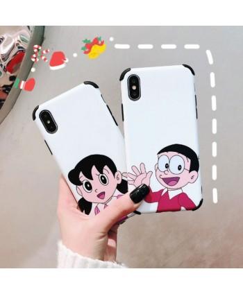 iPhone X Doraemon Nobita Nobi &Shizuka Minamoto Case For Couples