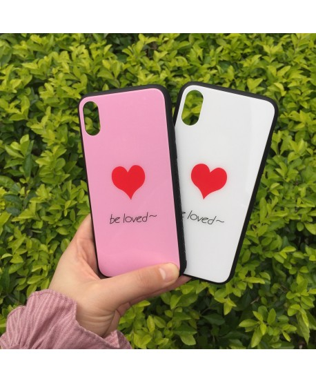 Love Heart Tempered Glass Case for iPhone