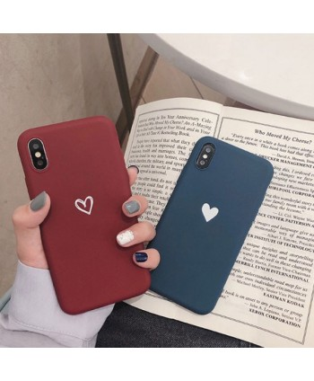 iPhone X Matching Love Heart Case For Couples