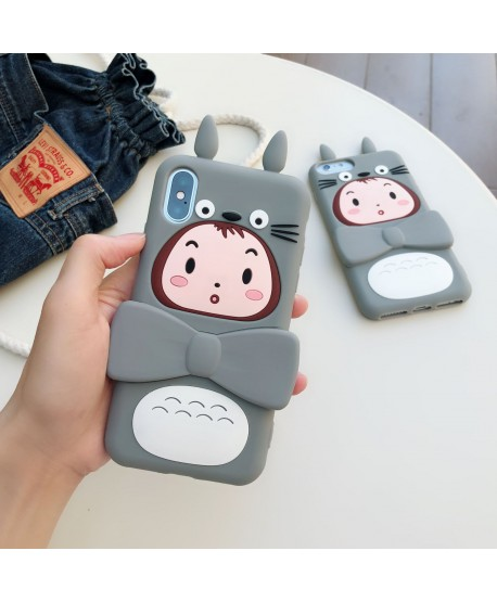Totoro Cartoon iPhone Bracket Case