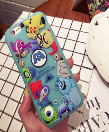 3D-Sulley-MonstersToy-Story-rubber-silicone-soft-case-cover-for-iphone-7-6S-plus-182149267794