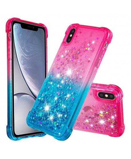 ShockProof gradient Liquid Glitter IPhone Case Pink&Blue