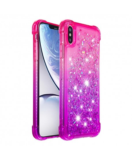 Gradient Liquid Glitter ShockProof IPhone Case Pink&Purple