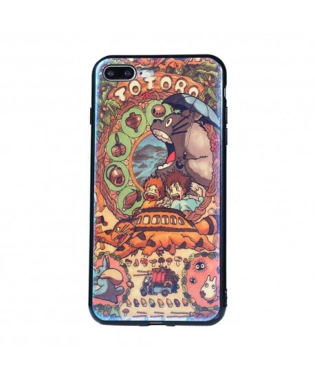 Totoro Cartoon Matte Blue Ray Case for iPhone Samsung