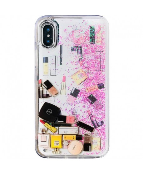 Cosmetic Dynamic Liquid Glitter Protective Case for iPhone