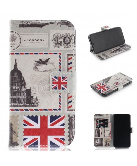 Painting Designer London Landscape Leather Wallet Case for iPhone