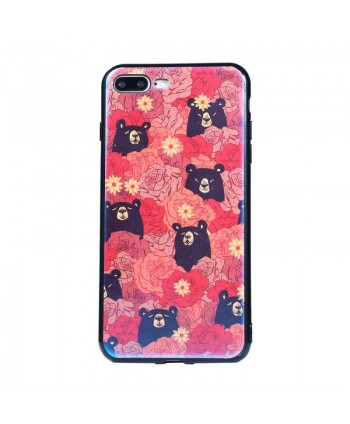 Flower Black Bear Art Case...