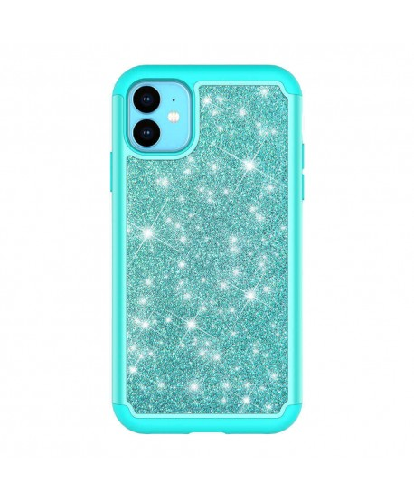 Dual Layer Glitter Shockproof Silicone Case for iPhone 11