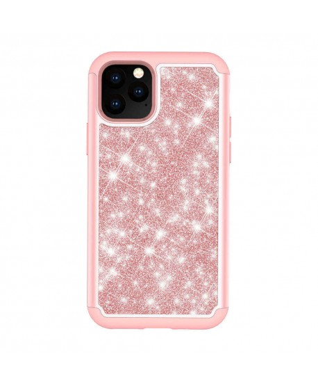Dual Layer Glitter Shockproof Silicone Case for iPhone 11 Pro Max