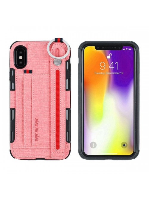 Strap Holder Phone Case With Card Holder for iPhone 11