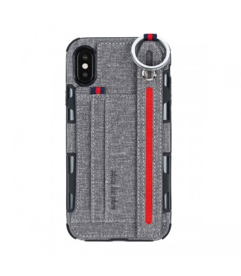 iPhone XR Strap Holder Phone Case With Card Holder