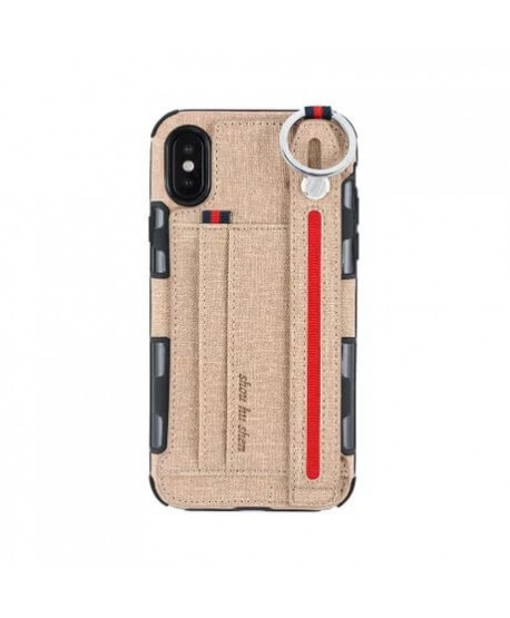 Strap Holder Phone Case With Card Holder for iPhone 12