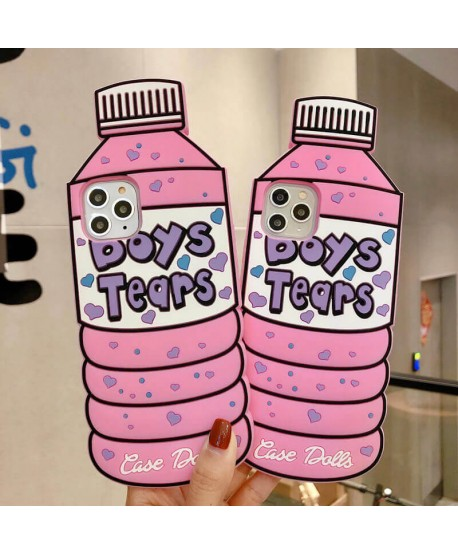 3D Boys Tears Bottle Silicone Case for iPhone 11