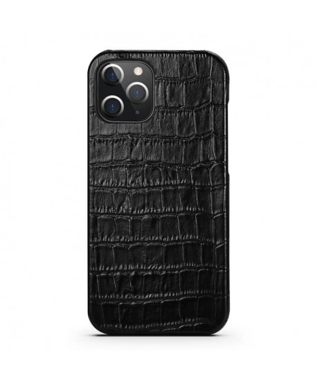 iPhone 12 Crocodile Grain Genuine Leather Business Case