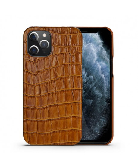 iPhone 12 Pro Crocodile Grain Genuine Leather Business Case