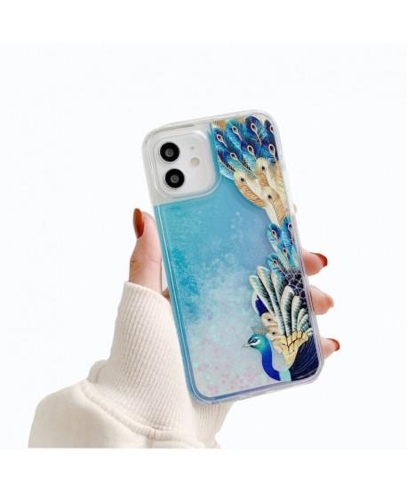 Peacock Liquid QuickSand Case for iPhone 12