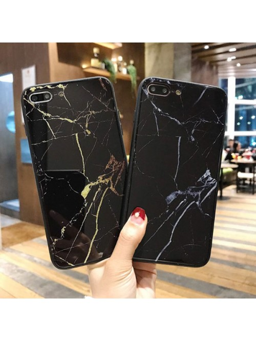 Black Marble iPhone Cases