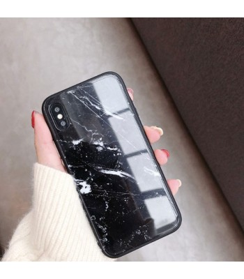 iPhone XR Black Marble Cases