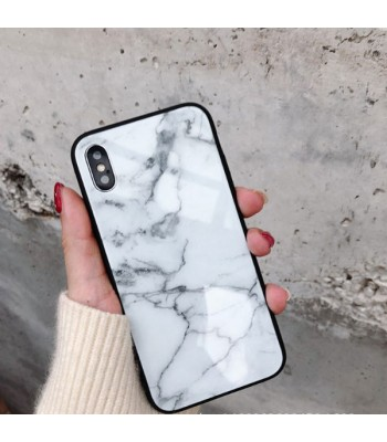 White iPhone XS Marble Cases
