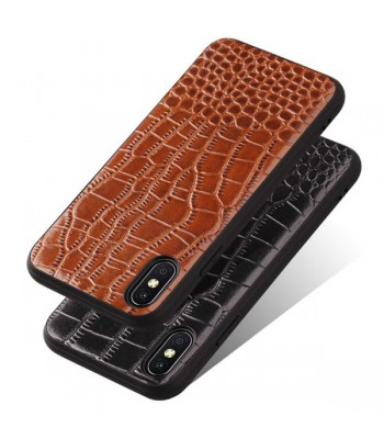 Luxury Alligator Genuine Leather Case For iPhone Xs