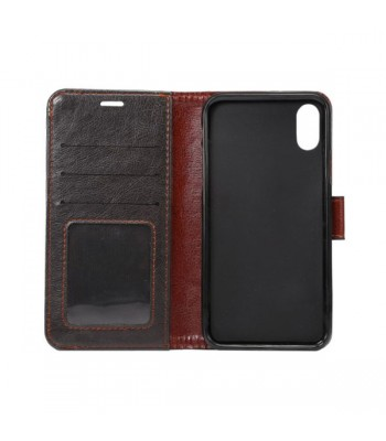Crazy Horse Leather iPhone Xs Wallet Case