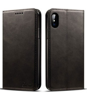 Luxury Leather Folio Case For iPhone Xr