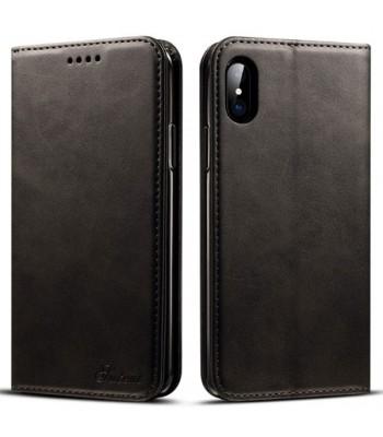 Luxury Leather Folio Case For iPhone Xs Max