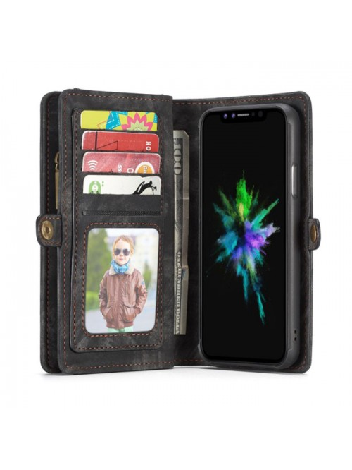 Luxury iPhone XR Genuine Leather Wallet Case