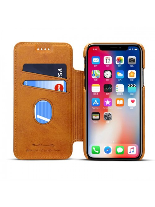 on sale 20f9a c3ae7 iPhone Xs Max Leather Folio Case With Card Holder