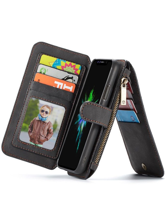 Luxury iPhone Xs Max Genuine Leather Wallet Case