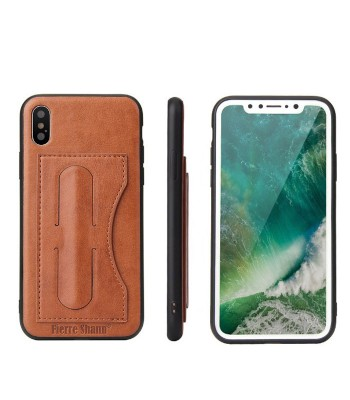 iPhone Xs Leather Kickstand Phone Case With Card Holder