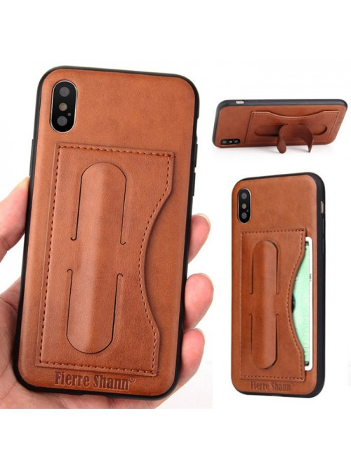 best service f6d8c a776f iPhone Xs Max Leather Kickstand Phone Case With Card Holder