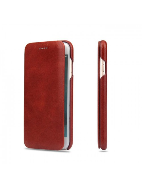 iPhone Xs Max Genuine Leather Folio Phone Case