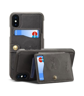 iPhone Xs Leather Phone Case With Card Holder