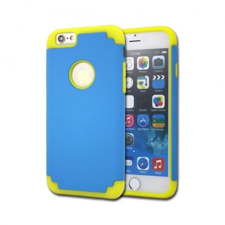 iPhone 5/5s/SE/6/6s/Plus Shock-Absorbing Drop Protection 2 in 1 Hybrid Hard PC +Soft Silicone Protective Case