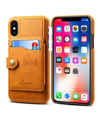 iPhone XR Leather Phone Case With Card Holder