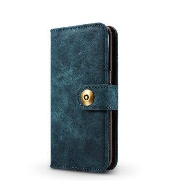 Leather Folio Wallet Phone Case With Card Holder For iPhone Xs