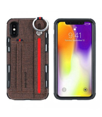 iPhone Xs Strap Holder Phone Case With Card Holder