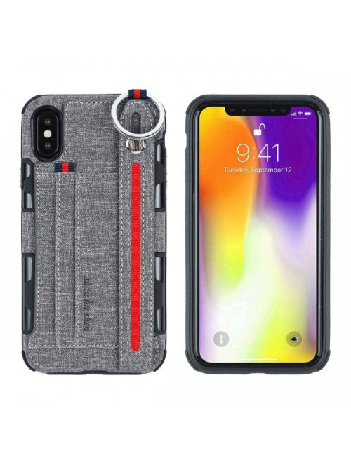 Phone Card Holder >> Cell Phone Case With Strap And Card Holder For Iphone Xs Max