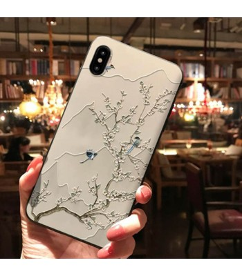 3D iPhone Case For X Series - The White Plum
