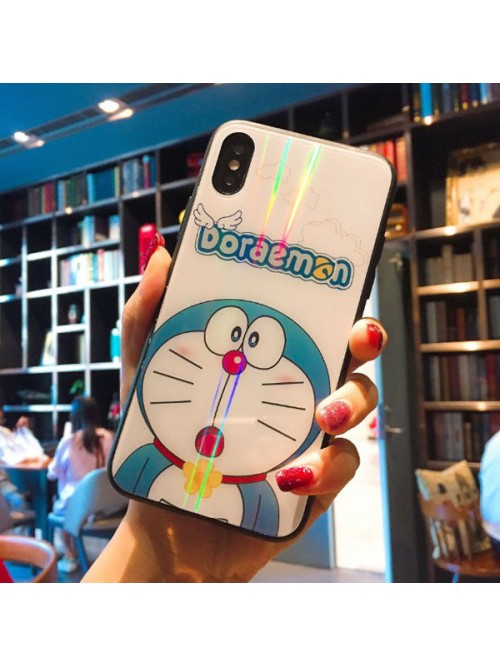 Tempered Glass iPhone Case For X Series - The Doraemon