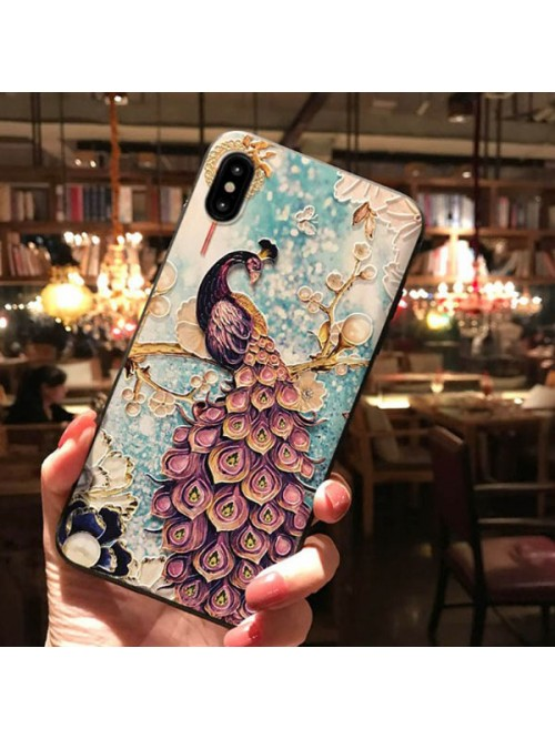 3D iPhone Case For X Series - The Peacock