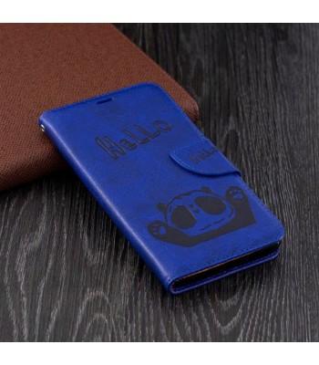 Cute Cartoon Panda Leather Folio Case For iPhone Xs