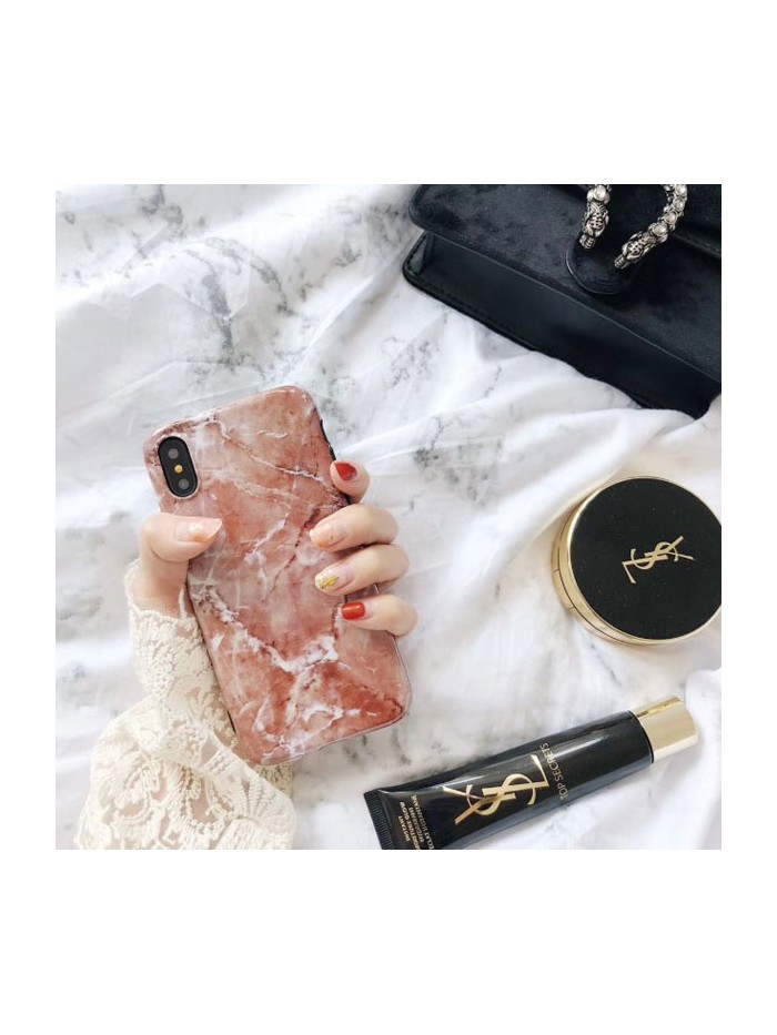 Brown Marble Effect iPhone Case