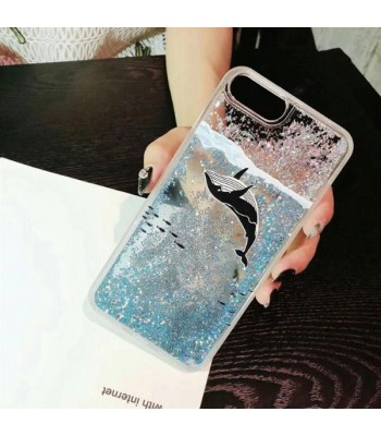 Liquid Quicksand Glitter iPhone Case - The Black Shark